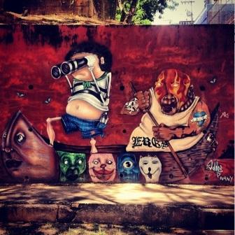 Grafite na praça do Grota, no Sagrada Família. Fotografado por Guilherme Ávila e publicado originalmente em fevereiro/2014 em seu Instagram: http://instagram.com/guilherme_avila