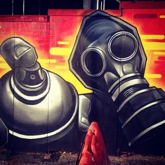Grafite na praça da Estação, Centro. Fotografado por Guilherme Ávila e publicado originalmente em janeiro/2014 em seu Instagram: http://instagram.com/guilherme_avila