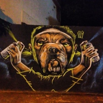Grafite de Marcelo Gud na rua Álvares Maciel, Santa Efigênia. Fotografado por Guilherme Ávila e publicado originalmente em julho/2013 em seu Instagram: http://instagram.com/guilherme_avila