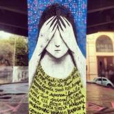Grafite no Viaduto Santa Tereza. Fotografado por Guilherme Ávila e publicado originalmente em seu Instagram em julho/2013: http://instagram.com/guilherme_avila