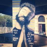 Grafite no Viaduto de Santa Tereza. Fotografado por Guilherme Ávila e publicado originalmente em setembro/2013 em seu Instagram: http://instagram.com/guilherme_avila