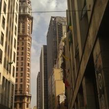 Prédios da rua Líbero Badaró, no centro de São Paulo.