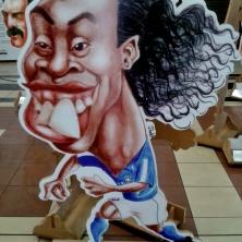 Exposição do Sesc no Shopping Light. Grande Ronaldinho Gaúcho, pentacampeão brasileiro e campeão da Libertadores pelo Galo :)