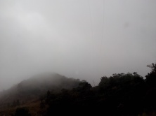 Neblina cerrada na Régis, já no Estado do Paraná.