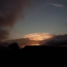 ... e a um lindo crepúsculo.
