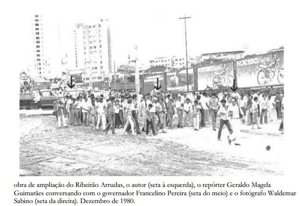 Waldemar Sabino, o Mazico, em uma de suas coberturas pelo JB