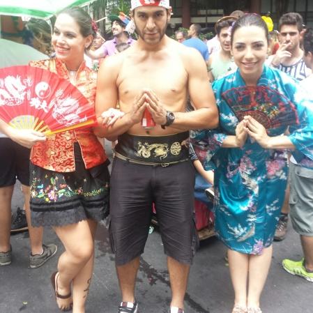 Família Nipônica. Foto enviada por Luiza Azevedo (esta da esquerda)