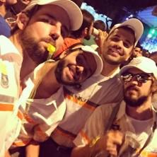 """Quatro agentes da BHTrans (ou """"BHTransa"""", como definiu o Bruno Reoli, que me enviou a foto :D)"""