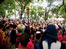 Carnaval de 2015: A multidão do bloco do Peixoto, no bairro Santa Efigênia. Foto: CMC