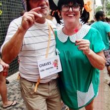O melhor Chaves e a melhor Chiquinha que vi neste Carnaval! Pipipipipi.... Foto: CMC