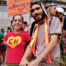 Casal super simpático: a Chapolina e o Chaves! Foto: CMC