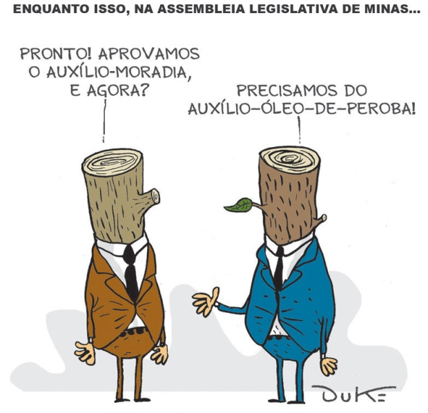 Charge do Duke publicada no jornal O Tempo de 11.2.2015