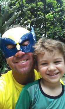 Super-herói :) Foto enviada por Regiane Suela