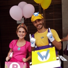 Wario e a princesa do Super Mario! Foto: CMC