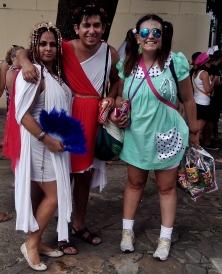 Cleópatra, César e a Chiquinha! Foto: CMC