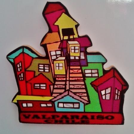 Ímã de Valparaíso, Chile, presente da amiga Laura :) Foto: CMC, 9.5.2015