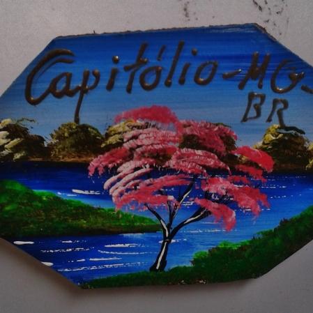 Ímã que comprei em Capitólio, na região da Serra da Canastra, em Minas Gerais. Foto: CMC: 9.5.2015