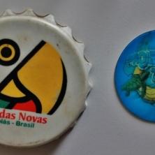Caldas Novas e um ímã do projeto Tamar, que já não sei de qual Estado veio. Foto: CMC, em 27/3/2015