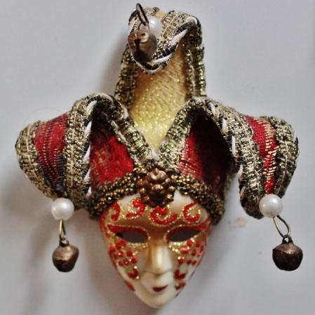 Máscara de Veneza, comprada in loco, na cidade italiana, presente do meu irmão. Foto: CMC, em 27/3/2015