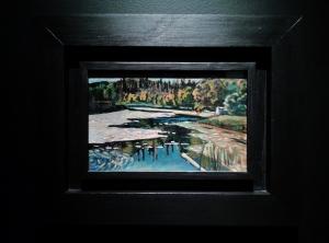 Lago no outono, de Kandinsky. Se não me engano, em óleo sobre tela.