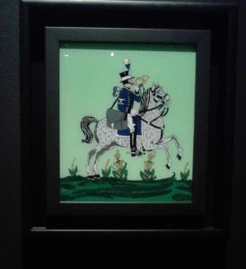 Um dos quadros de Gabriele Münter, em óleo sobre vidro, parecendo saído de um conto de fadas :)