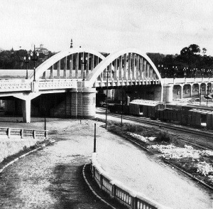 Foto histórica do viaduto