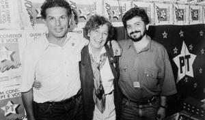 Virgílio Guimarães, Sandra Starling e Chico Ferramenta em foto de 1980. Imagem: Reprodução / Flickr