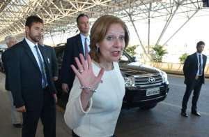 A embaixadora Liliane. Foto: Marcello Casal Jr / Agência Brasil