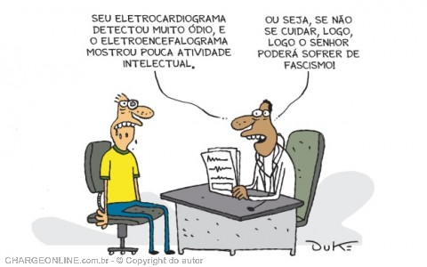 "Charge do grande Duke, publicada no jornal ""O Tempo"""