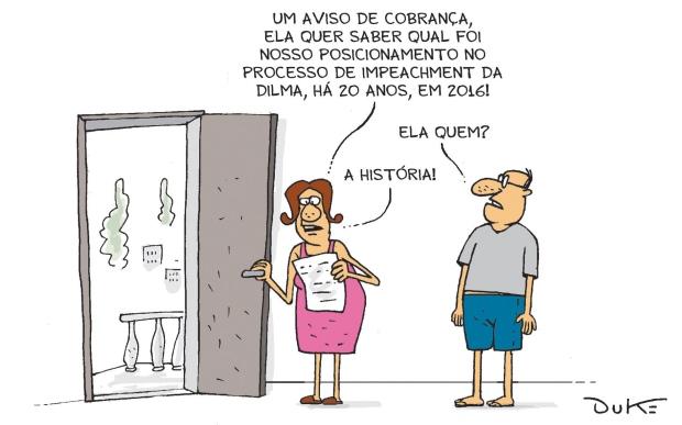 """Charge do Duke, publicada no jornal """"O Tempo"""""""