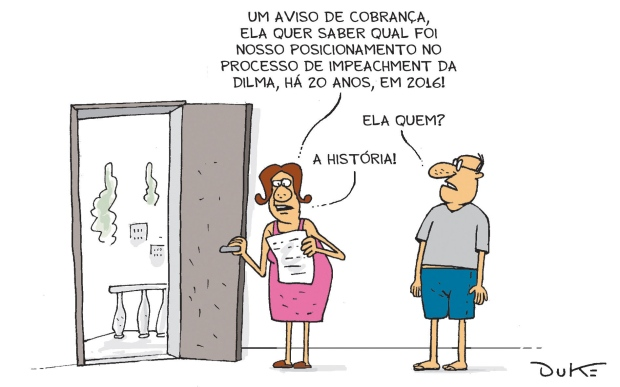 "Charge do Duke, publicada no jornal ""O Tempo"""