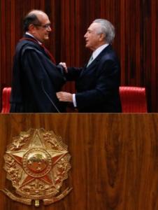 Gilmar Mendes e Michel Temer - 12.5.2016. Foto: Anderson Riedel/ VPR