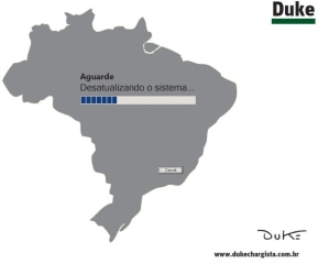 """Charge do Duke no jornal """"O Tempo"""" de 20.5.2016"""