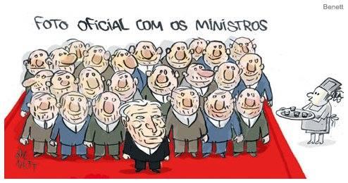 """Charge do Bennet publicada pela """"Folha de S.Paulo"""" em 13.5.2016"""