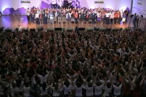 Multidão que estava no evento com Dilma. Foto: Valter Campanato/ Agência Brasil