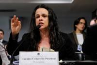 Janaína Paschoal no Senado. Foto: Edilson Rodrigues/Agência Senado