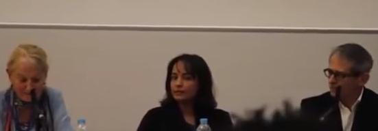 Sue Brandford (esquerda) e Otavio Frias Filho (direita). Reprodução / Youtube