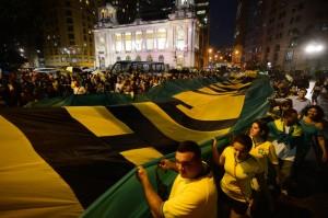 Protesto contra Dilma Roussef no Rio de Janeiro, em março. Foto: Fernando Frazão/Agência Brasil