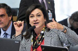 A senadora Kátia Abreu (PMDB-TO) fala na Comissão Especial do Impeachment, em julho. Foto: Geraldo Magela/Agência Senado