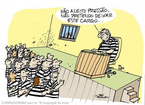Resultado de imagem para cunha preso charges