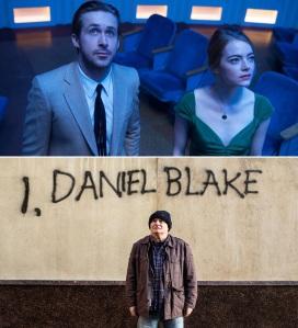 """Cenas de """"La La Land"""" e """"Eu, Daniel Blake"""""""