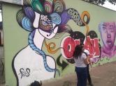 Grafite na Escola Francisco Bicalho, na av. Olinto Meireles, no Barreiro de Cima. Clique de Wellington Ferreira, obrigada!