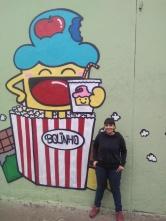 Grafite da Raquel Bolinho na Escola Francisco Bicalho, na av. Olinto Meireles, no Barreiro de Cima. Clique de Wellington Ferreira, obrigada!
