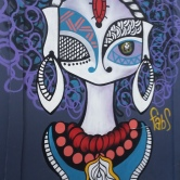 Grafite na rua Espírito Santo com av. Amazonas, no centro de BH. Foto de 18.7.2018, por CMC.