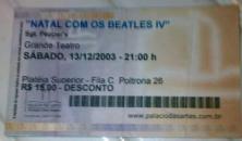 Sgt. Pepper's em seus tempos áureos, quando apresentava o especial de Natal no Palácio das Artes. Dezembro de 2003. (R$ 15)