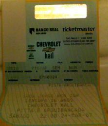 Segundo ou terceiro show que vi do grande Jorge Ben Jor no Chevrolet Hall, em Belo Horizonte, março de 2007. (R$ 30)