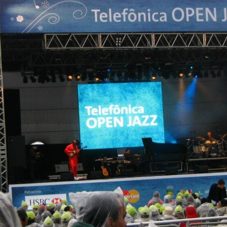 Herbie Hancock no Telefônica Jazz Festival. Parque Villa Lobos, São Paulo, junho de 2008. (Grátis!). Acho que vi este sozinha.