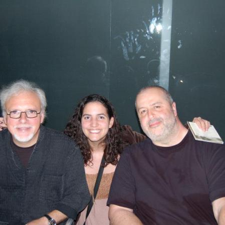 Depois do show, quando pedi autógrafo para os grandes J.J. Milteau (gaita) e Manu Galvin (guitarra). Sesi, São Paulo, julho de 2008. (R$ 10)