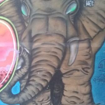 Grafite perto do Sesc Palladium. Foto de março de 2019.