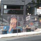Grafite no bairro Anchieta, na rua Francisco Deslandes. Foto de abril de 2019.